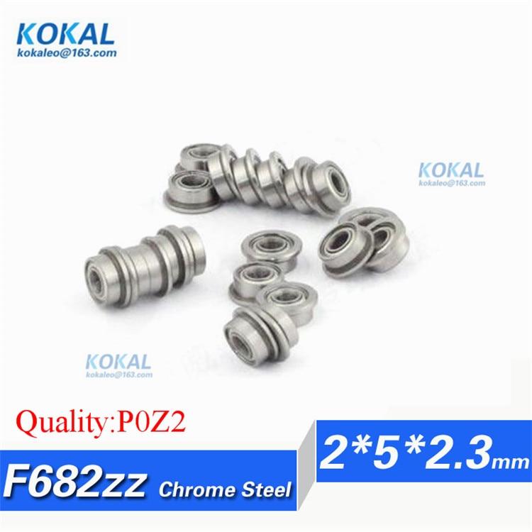 10 PCS Miniature Metal Bearing Flanged Ball Bearing F682ZZ 2x5x2.3mm