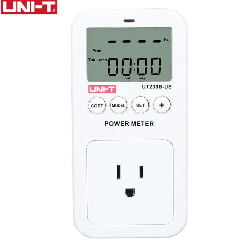 Freqüência de Consumo de Energia do Monitor Medidor de Energia Tomada de Alimentação Uni-t Wattmeter Tensão Custo Atual Lcd Ut230b-us