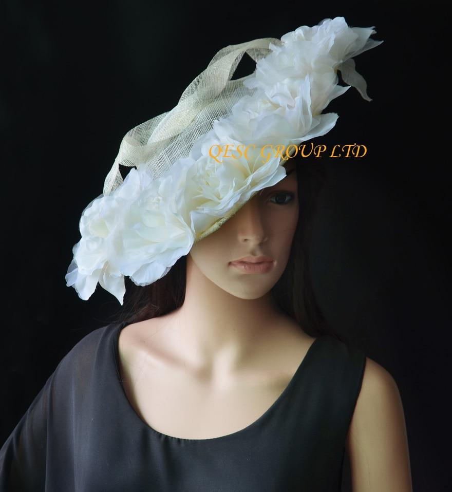 Aliexpress Buy New Cream Ivorylarge Sinamay Hat Saucer