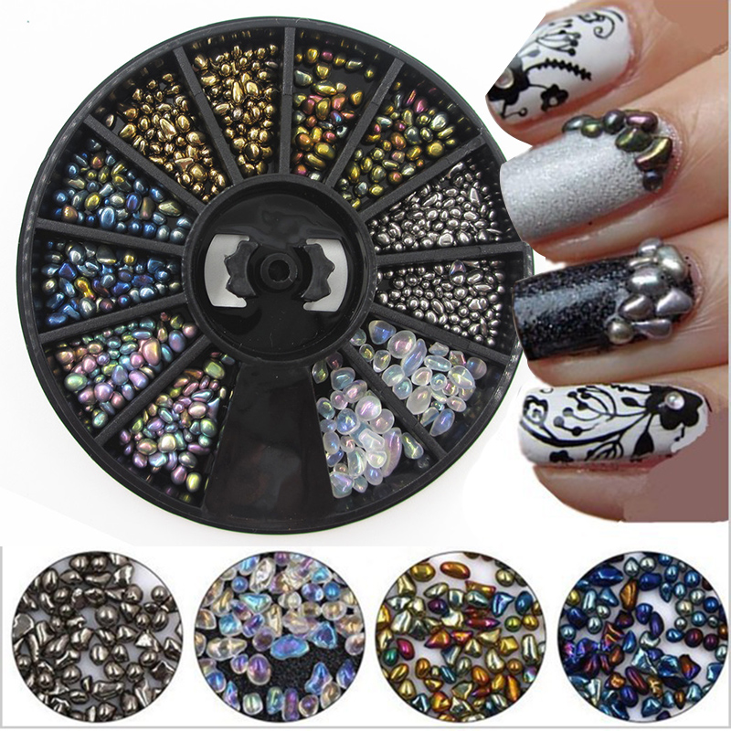 3D DIY New Mixed Color Chameleon Stone Nail Art Manicure Small Irregular Beads Rhinestone Nail Art Decoration for Nail new wallet бумажник chameleon