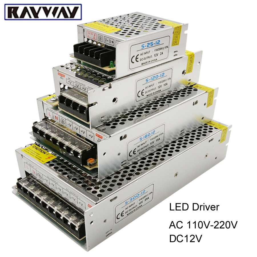 110-265v To Dc 12v 1a 2a 3.2a 5a 8.5a 10a 12.5a 15a 20a 30a 40a 50a Switching Power Supply Transformers Adapter For Led Strip Novel Design; In