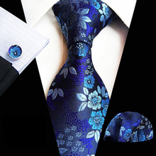 HOT!! Mens Classic 8CM Silk Necktie ( Neck Tie Pocket Square Cufflinks