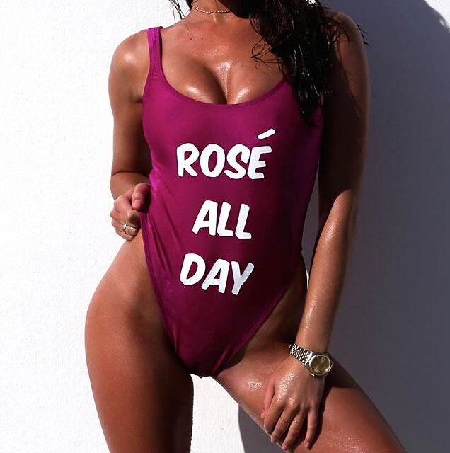 f1fae6b06a ROSE ALL Day one piece swimsuit bodysuit women monokini swimwear bathing  suit nicki minaj