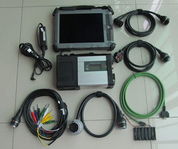 Top sdconnect c5 mb étoile diagnostiquer c5 avec ordinateur portable i7 ix104 ram 4g ssd 240 gb date logiciel 2018.12 prêt à utiliser pour 12 v 24 v