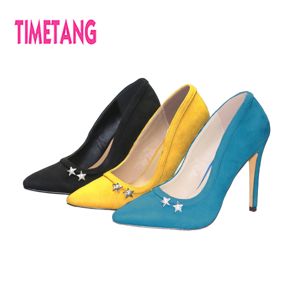 Women Shoes New 2018 Concise Pointed Toe High Thin Heel Flock Woman Pumps OL/Dress Shallow Mouth Crystal Work/Casual Shoe 5.5-10Women Shoes New 2018 Concise Pointed Toe High Thin Heel Flock Woman Pumps OL/Dress Shallow Mouth Crystal Work/Casual Shoe 5.5-10