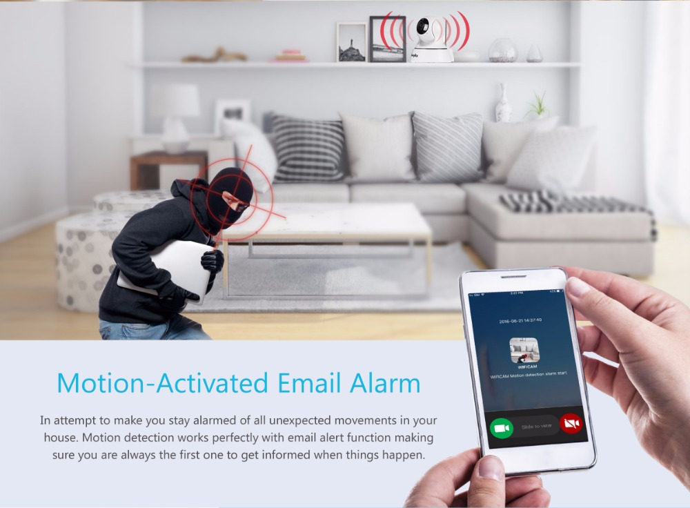 Real-Time motion detect, Send online alarm SMS to your phone