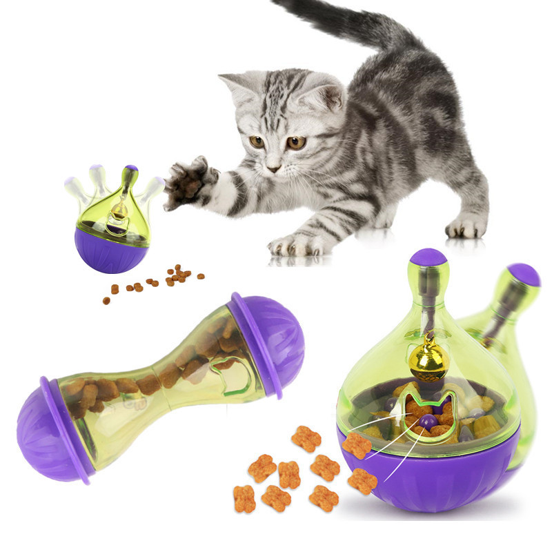 MTL Cat IQ Treat Toy Smarter Interactive Kitten Ball Toys Pet Food Dispenser Puzzle Feeder For Cats Playing Training image