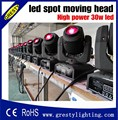 Wholesale China moving heads LED mini 30w Spot Moving Head Light 30W DMX dj 8 gobos effect stage lights