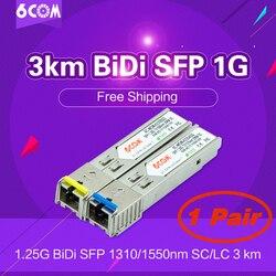 3km BiDi SFP 1G (Bi-Directional, WDM, 1.25Gbps, SC) DOM / DDM / DDMi  (GLC-BX-D, GLC-BX-U, D/U, A/B, 1310/1550) BiDi Transceiver