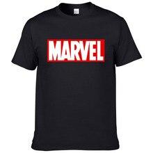 """Летняя футболка Marvel, мужские топы, футболки, высокое качество, хлопок, короткий рукав, повседневная мужская футболка, футболка """"Марвел"""", Мужская#173"""