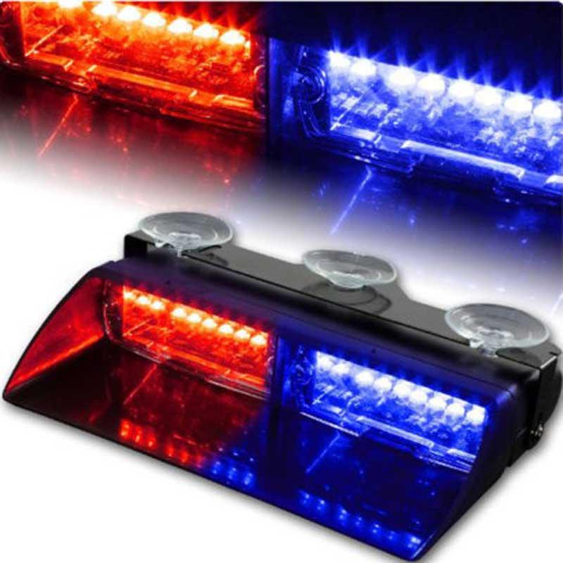 Amber New Universal Car Dash Interior Led Strobe Lightbar Police Fireman  Truck Warning DRL Daytime Running
