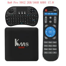 Km8 Pro S912 Kodi 4K HD Network Player Android TV Box Set Top Box smart tv box android tv box Pk x96 x92