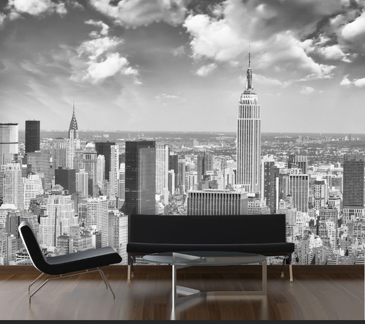 New York City scenery black&white Papel Murals 3d photo mural wallpaper for living room background 3d wall mural Wall paper