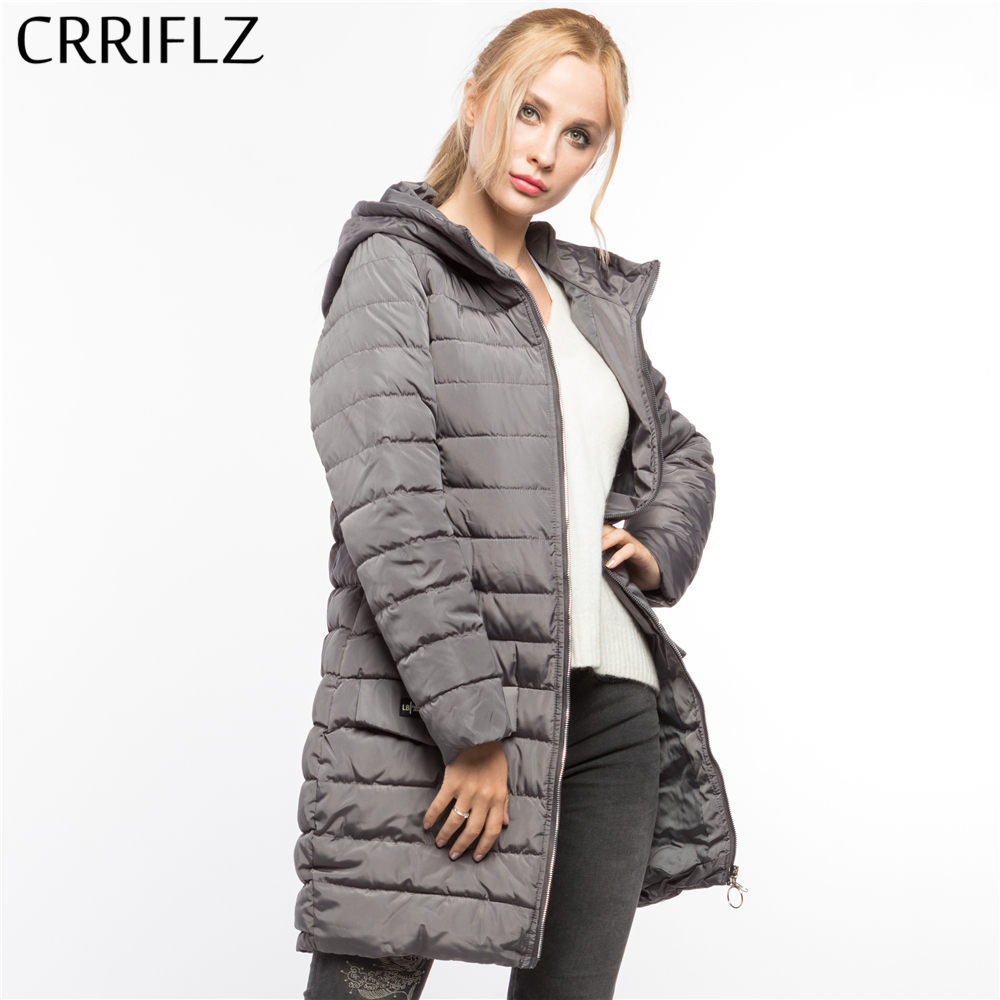CRRIFLZ Winter Clearance Warm Winter Jacket Women Hooded Coat   Parkas   Female Outerwear