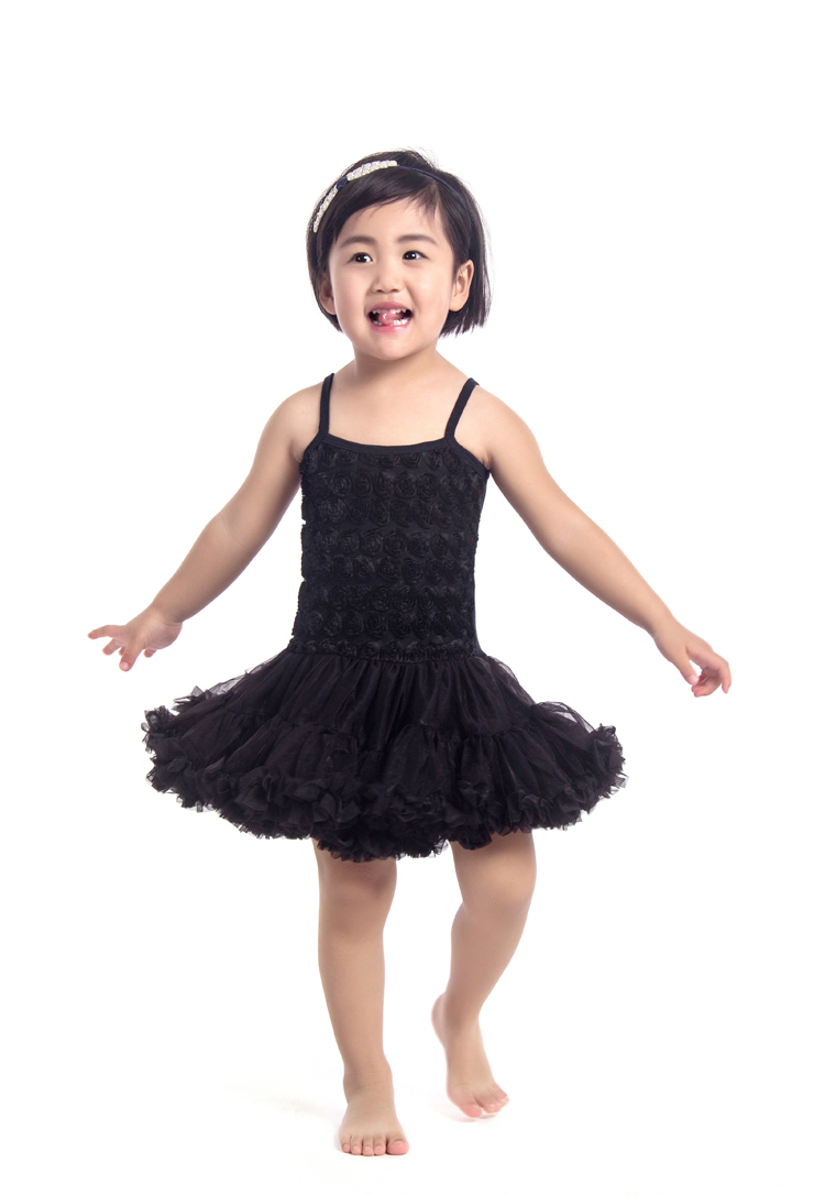 retail! hot sale baby fashion rosette children baby dress ...