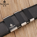 Mens luxury belts Manbang Brand genuine leather Gold/Silver buckle quality Black straps belts 0050YB