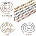TDIYJ Venta Superior 80 cm Plata Oro Rosa Chapado En Oro Cadena De La Bola para Mi Moneda Colgante Cadena de Cuentas de Collar para Las Mujeres Joyería 10 unids