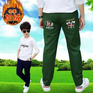 Image 5 - Boys pants teenage winter velvet warm pants kids long style solid causal trousers 3 15T baby boys outwear children clothes