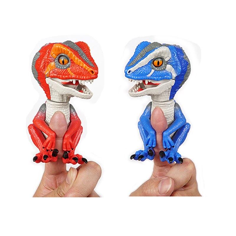 Dedo dinosaurio mascota electrónica interactivo juguete domesticados Raptor Bruce dedo dinosaurio niños regalo de Navidad juguetes para los niños ZD8