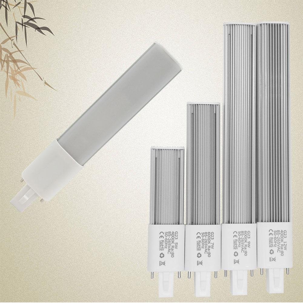 G23 lâmpada led ultra-fino 5 w 7 w 9 12 led g23 suporte da lâmpada led pl luz brilho g23 lâmpada led substituir cfl luz frete grátis