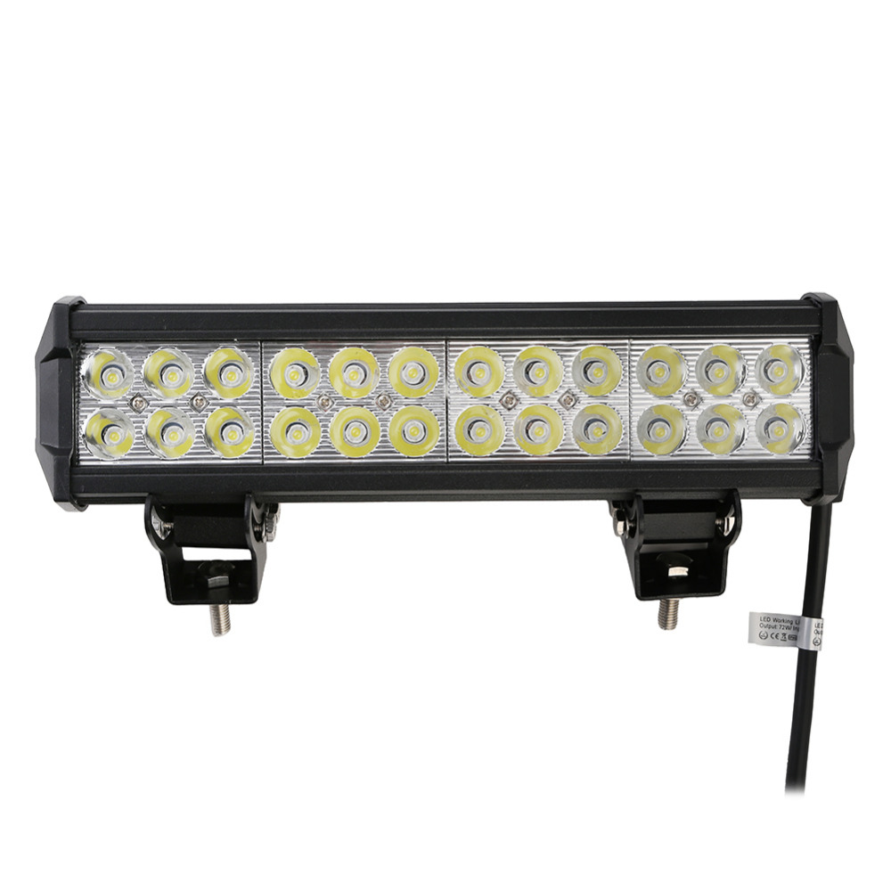 12 Inch 72W LED Light Bar offroad Truck Trailer 4x4 4WD SUV ATV Off Road Spot Working light Lamp Spot Beam 12V/ 24V foxstar 2 pcs set 3 9 inch 18w 4x4 off road led offroad light bar for truck boat atv suv spot beam 1440 lm ip67 universal