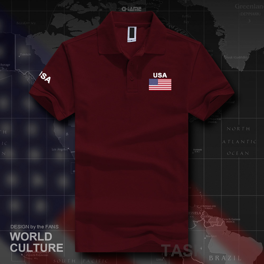 United States of America <font><b>USA</b></font> US <font><b>polo</b></font> <font><b>shirts</b></font> men short sleeve white brands printed for country 2017 cotton nation team flag new image