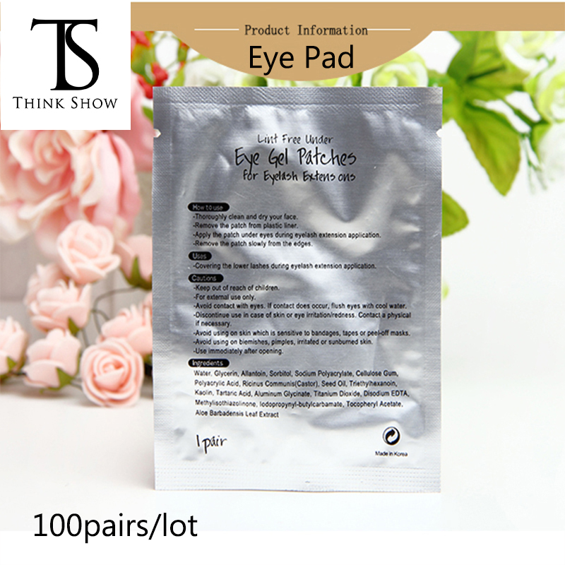 Thinkshow 100pairs/lot Eyelash Extension Under Eye Pads Lash Extension Eye Patches Sticker Wraps Make Up Tools