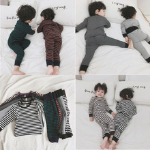 2019 Korean New Boys and Girls Pajamas Set Kids Long Sleeve