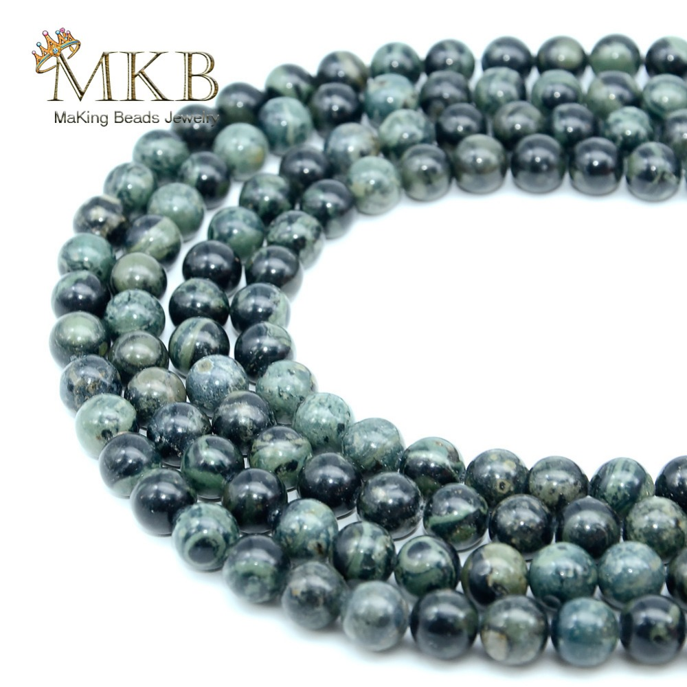 Beads Natural Stone Grey Agates Round Loose Beads For Jewelry Making 4 6 8 10mm Spacer Gem Beads Diy Bracelet Wholesale Perles