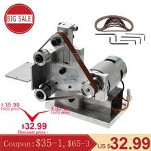110 240V Multifunctional Mini Electric Belt Sander Electric Grinder DIY Polishing Grinding Machine Cutter Edges Sharpener