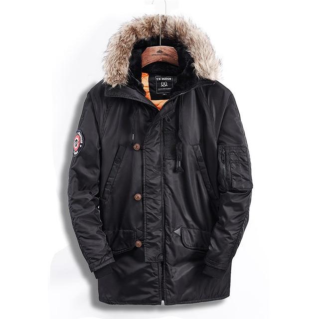 Metropolis Trump marca ropa hombres con capucha Cuello de piel vestido de  invierno Parkas chaqueta de 97fb104228c2