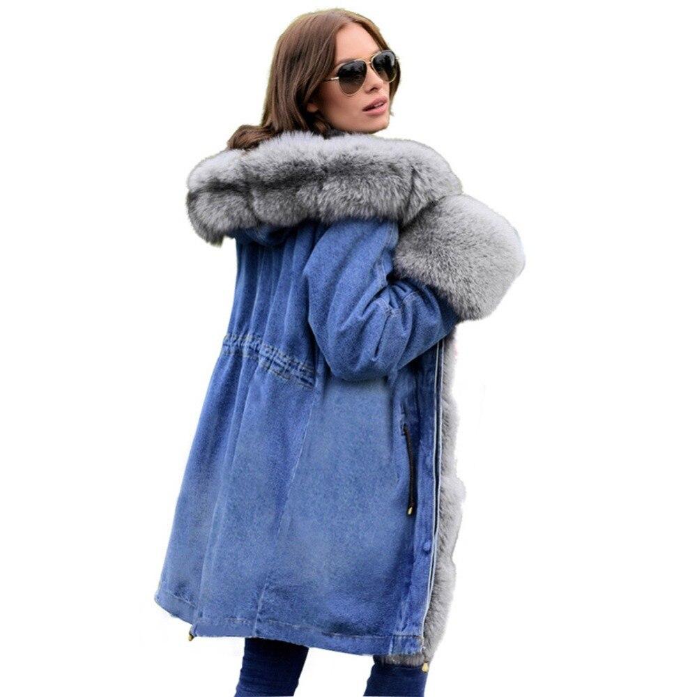 new style 0d1b9 c1543 Dimensioni 1 Donne A S Cappotto Jeans In Alta Inverno Caldo ...