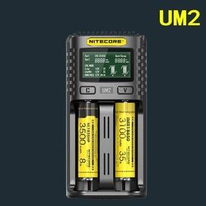 Image 2 - NITECORE UM4 UM2 C4 VC4 LCD Smart Battery Charger for Li ion/IMR/INR/ICR/LiFePO4 18650 14500 26650 AA 3.7 1.2V 1.5V Batteries D4