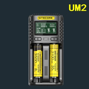 Image 2 - NITECORE UM4 UM2 C4 VC4 LCD Smartแบตเตอรี่เครื่องชาร์จLi Ion/IMR/INR/ICR/LiFePO4 18650 14500 26650 AA 3.7 1.2V 1.5Vแบตเตอรี่D4