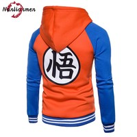 2017 Real Full O Neck New Dragon Ball Hoodies Men Sudadera Hombre Mens Moleton Masculino Anime