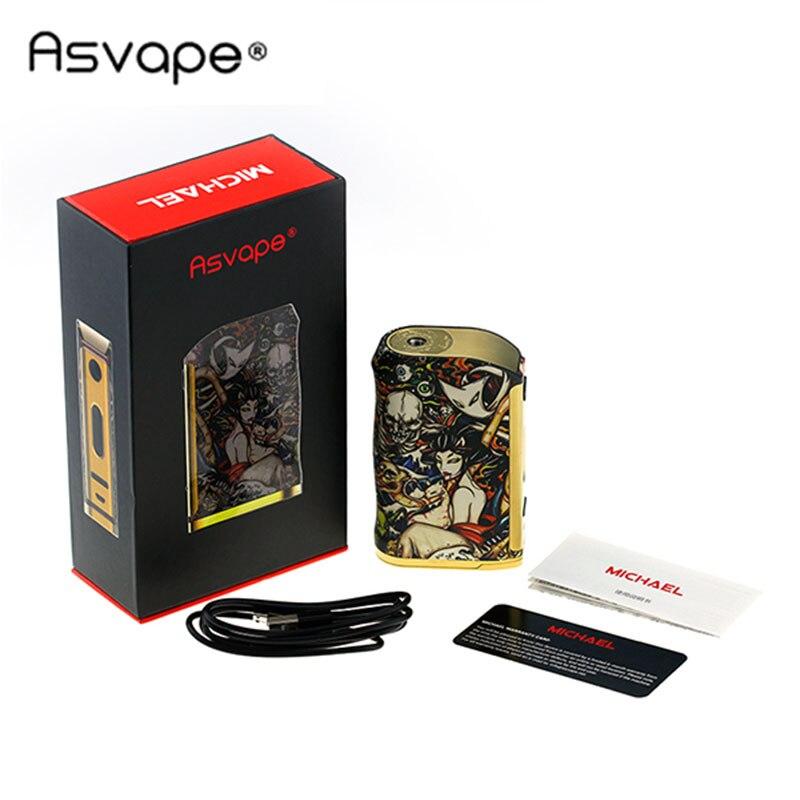Original 200W Asvape Michael TC Box MOD Vape with Latest VO200 Chip 200W Output Power Huge OLED Display Power by 18650 Battery