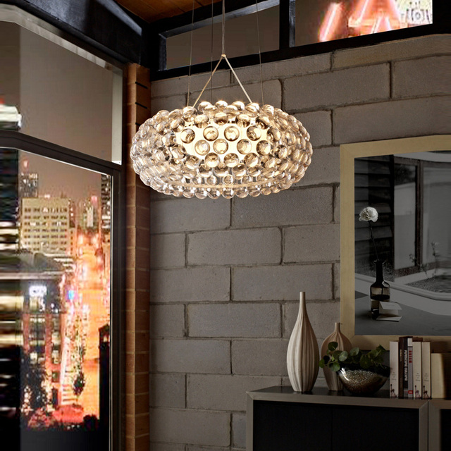Kitchen modern pendant light sconce Nordic art gold & clear color Raindrop ball pendant lamps drop lights restaurants Bar lamp