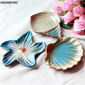 HOUSEEYOU Tableware Fruit Creative Ceramic Snack Plate