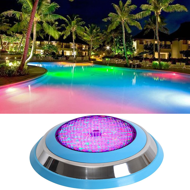 2pcs Outdoor Underwater 54W RGB LED Swimming Pool Light Wall Mounted IP68 Pond Decorating Lamp ...