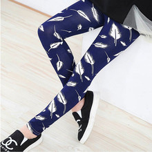 New Spring Summer Girls Leggings Casual Fashion Vintage Flower Kids Legging Elastic Waist Children&#8217s Pants bobo choses 8-14 Year