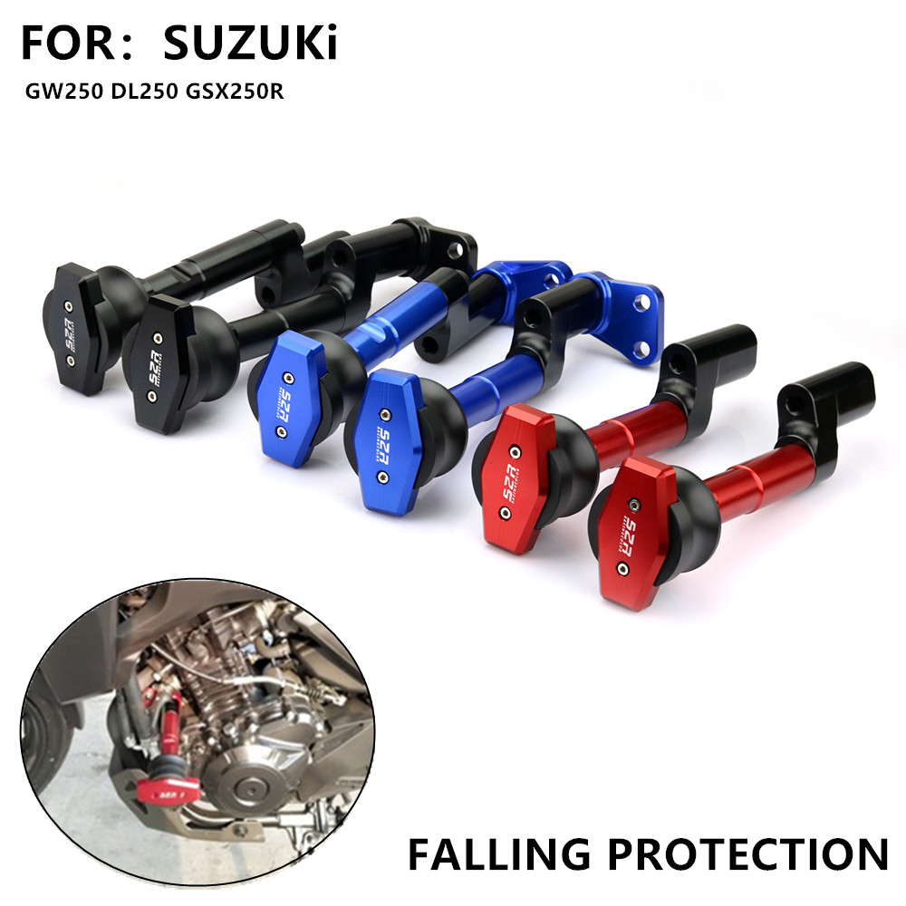 Protection Anti-chute de moto Anti chute de cadre Anti-chute tige de colle pare-chocs Anti-choc pour SUZUKi GW250 DL250 GSX250R
