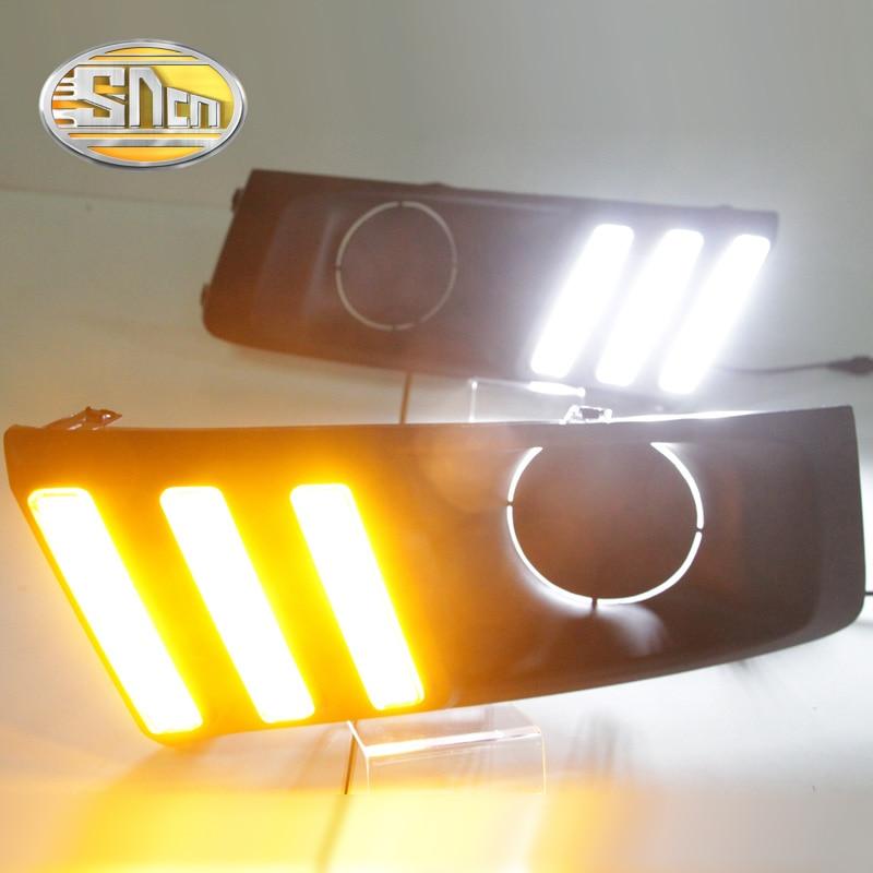 Для Сузуки Витара на 2015 - 2017,желтый сигнал поворота Водонепроницаемый АБС автомобиля DRL LED дневного света с Противотуманные фары отверстие SNCN