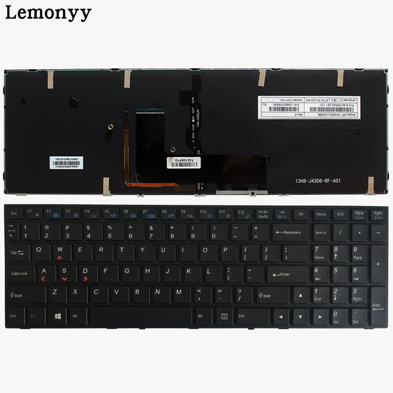 US Keyboard for Clevo P650SE P650SG P670SE P670SG Sager NP8651 P6500 MP-13H83USJ430B 6-80-P6500-280-1 Laptop Keyboard Backlit origianl clevo 6 87 n350s 4d7 6 87 n350s 4d8 n350bat 6 n350bat 9 laptop battery