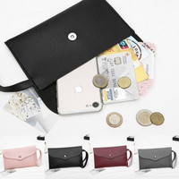 4 Colors Women Wallet Long Card Holder Coin Purse Small Black Leather Clutch Bag Phone Pocket 2019 New in Fashion