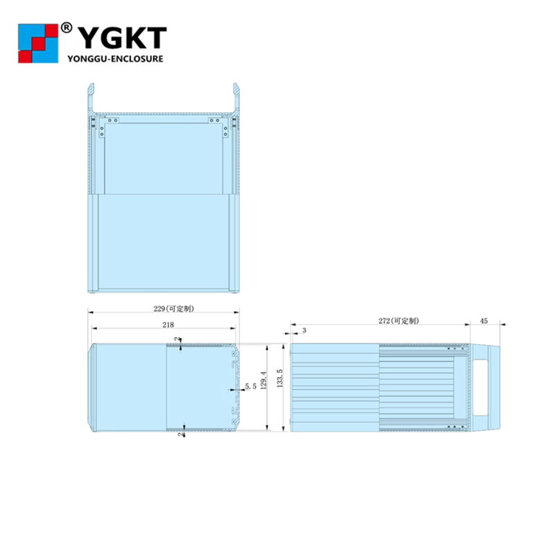445*1335 300mm (wxhxd) 3u wall mounting aluminum project pcb