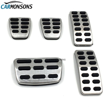 Carmonsons AT MT Stainless Steel Gas Brake Pedal Cover for Kia Rio K2 2012-2017 Soul 2013-2016 Cerato Car Styling