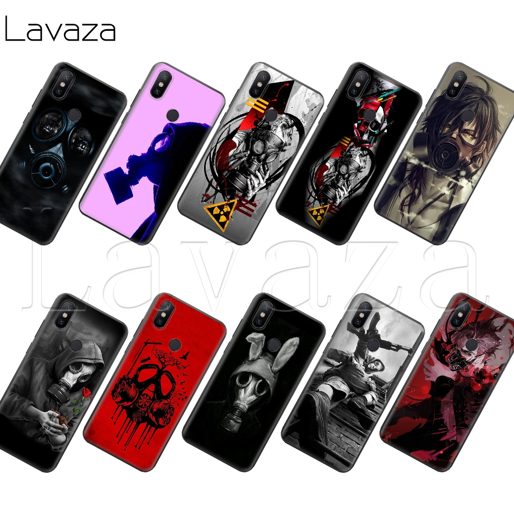 Fitted Cases Expressive Lavaza Mask Anti Gas Men Soft Silicone Case For Xiaomi Mi 6 8 9 9se A1 A2 Max 3 Lite Plus Pocophone F1