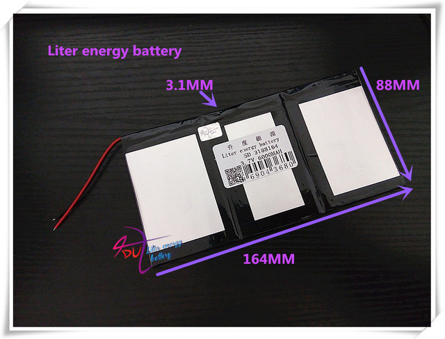 3.7V 6000mAH 3188164  ( polymer lithium ion / Li-ion battery ) for tablet pc phone speaker POWER BANK