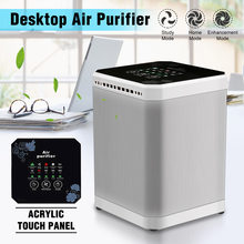 AUGIENB Air Purifier With HEPA Filter Mini Mulit-function Negative Ion 5 Hour Timing Fresh Air Desktop Small Air Conditioning(China)