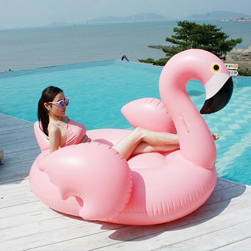Flamingo tiup Berenang mengapung Kolam Renang Mengapung Pink Naik - Olahraga air - Foto 2